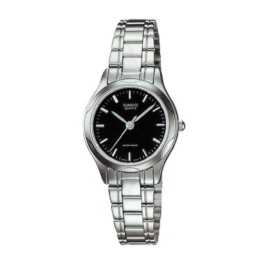 Casio Watch Enticer Silver Stainless-Steel Case Stainless-Steel Bracelet Mens NWT + Warr ...