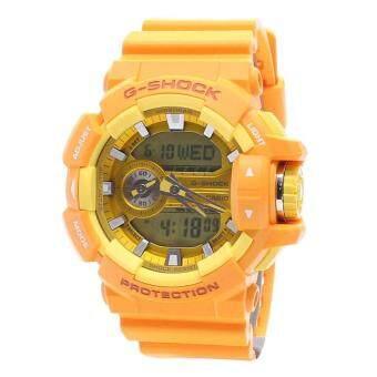 Casio Watch G-SHOCK Orange Resin Case Resin Strap Mens NWT + Warranty GA-400A-9A