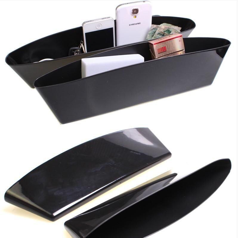 Catch Catcher Box Caddy Car Seat Gap Slit Pocket Storage Organizer X2 (black) - intl ...