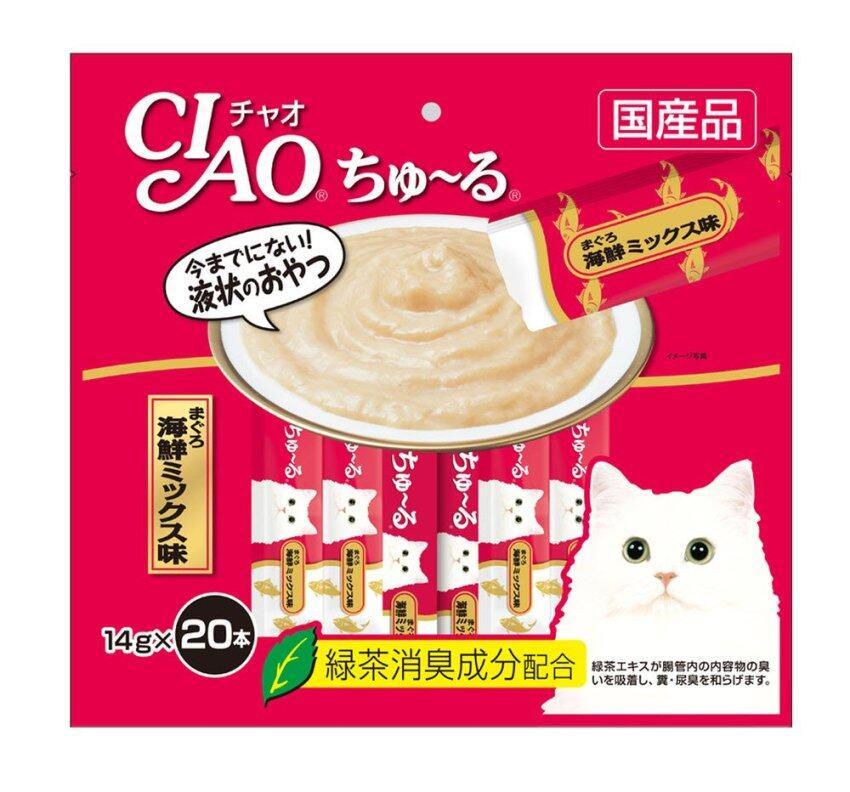 CIAO Churu White Meat Tuna (14g x 20pcs) ขนมแมวเลีย สูตรปลาทูน่าเนื้อขาว พร้อมโภชนาการคร ...
