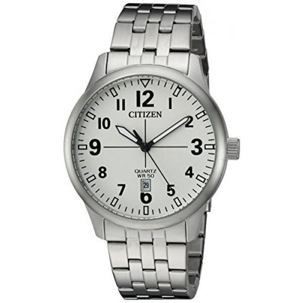 Citizen Mens Quartz Stainless Steel Casual Watch, Color:Silver-Toned (Model: BI1050-81B) - intl image