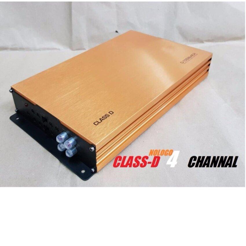 CLASS-D 4CH พาวเวอร์แอมป์ คลาสดี 4ชาแนล nologo ขับกลางแหลมได้400x2/ซับเบส Nologo