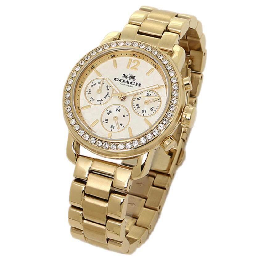 COACH Women's Legacy Sport 36mm Bracelet Watch Silver/Gold Plated Watch | 14502370