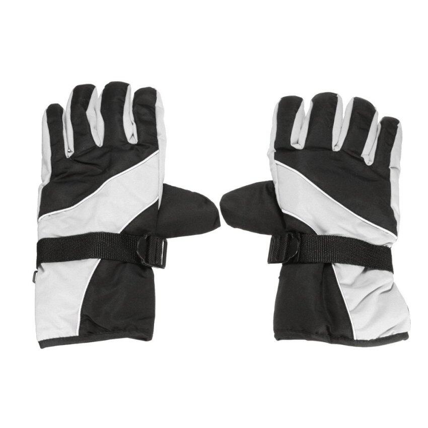 Cycling Winter Cold Weather Gloves Waterproof Windproof Light Grey - intl
