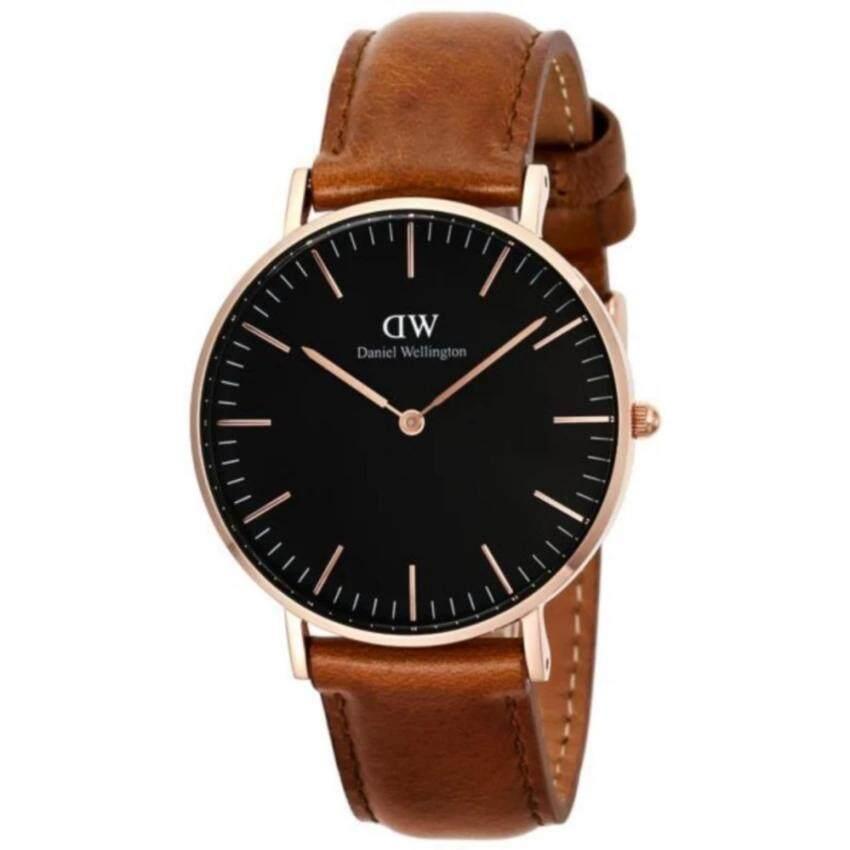 Daniel Wellington DW00100138 Classic Black Durham 36mm นาฬิกาข้อมือ แฟชั่น ผู้หญิง สายหน ...