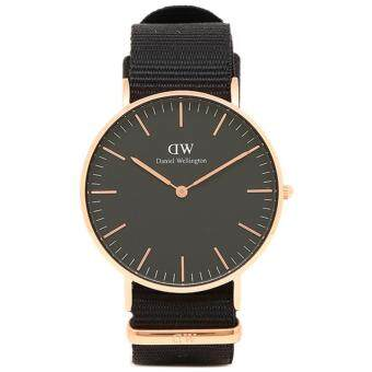 Daniel Wellington DW00100150 Classic Cornwall Horloge 36mm นาฬิกาข้อมือ แฟชั่น ผู้หญิง สีดำ Women Watch - Black