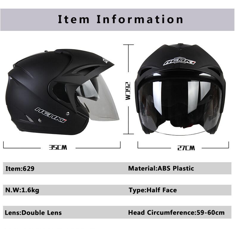 Dark Grey HALF-FACE Helmet - intl