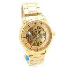 Debor นาฬิกาข้อมือสุภาพบุรุษ สายเหล็กสีทอง หน้าสีทอง (Automatic Movements) - D-GA9