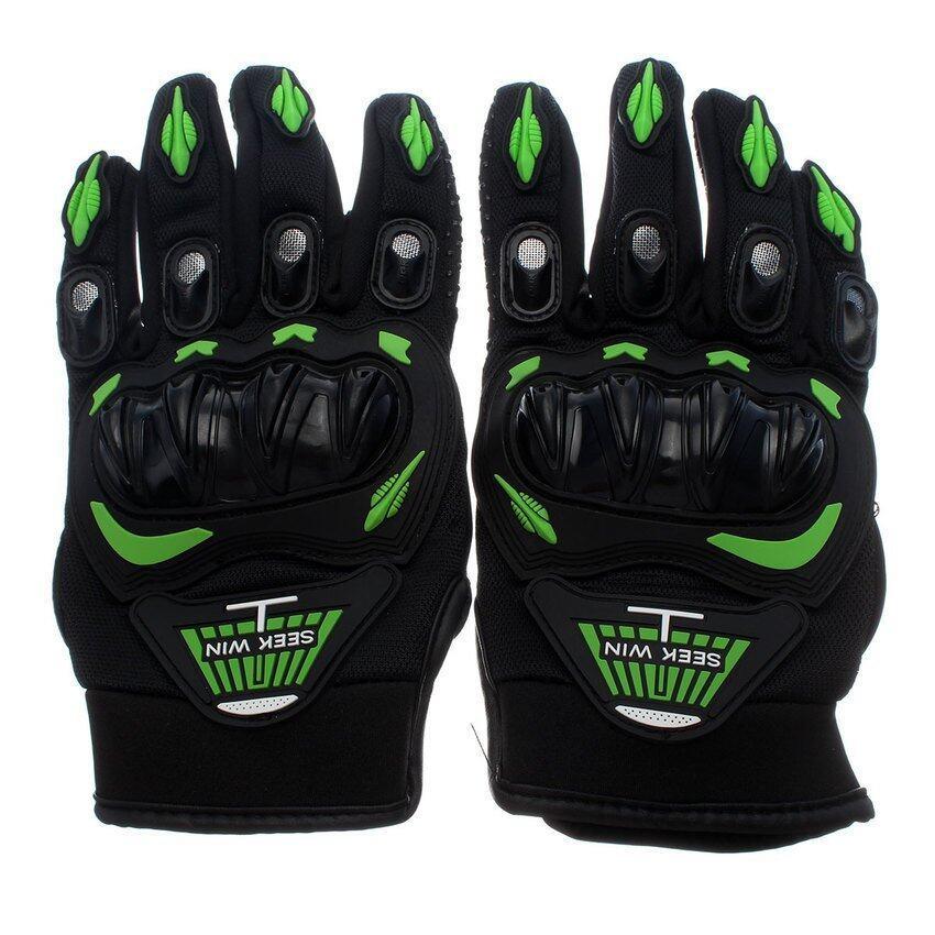 DHS SEEK WIN SC-01 Motorcycle Gloves Green L