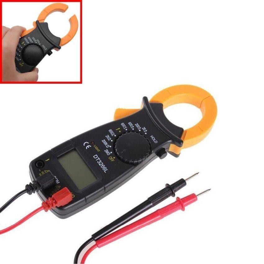 โปรโมชั่น - Digital Clamp Meter Multimeter AC Digital Clamp DT3266L Voltage Current Resistance Tester Probe Without Battery – intl  