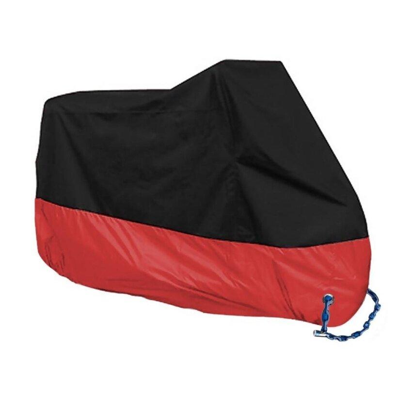 Dust Bike Motorcycle Cover Waterproof Outdoor Rain UV Protector Motorbike 245CM XXL Red - intl