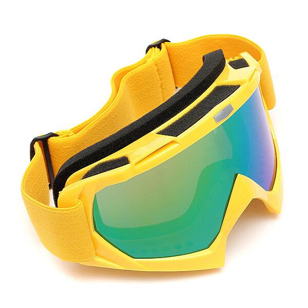 ขาย การแข่งขันจักรยานยนต์วิบากออฟโรดทดลอง Enduro มอเตอร์ไซค์วิบากหมวกแว่นตาแว่นตามอเตอร์ไซค์สีเหลือง