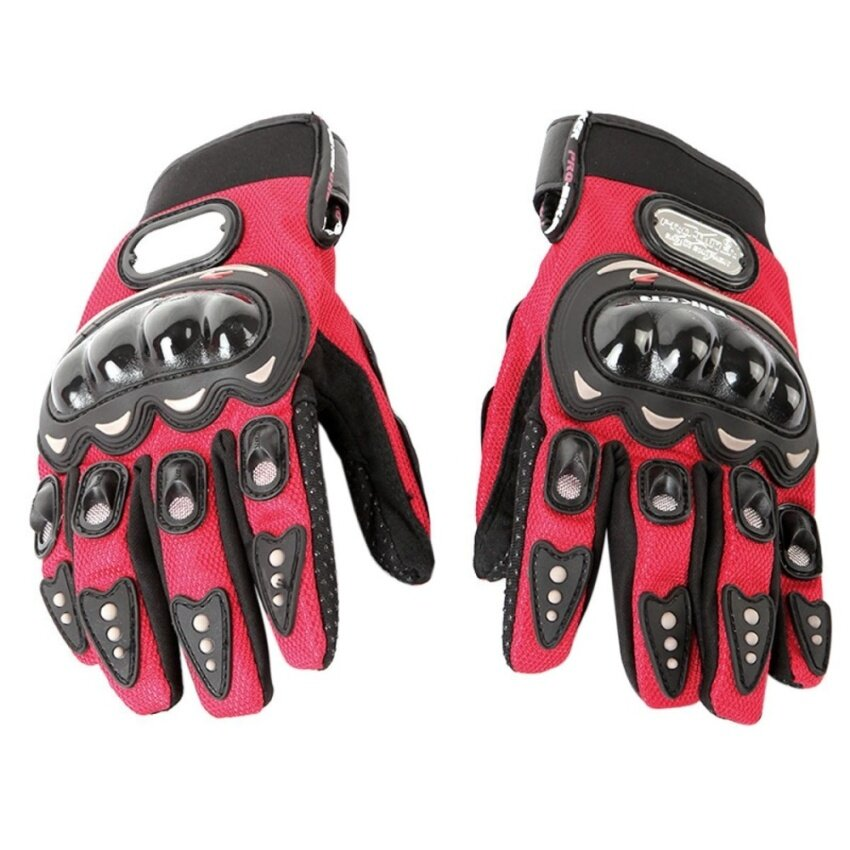 Fashion Men Sports Bicycle Motorcycle Gloves Red L - Intl - intl