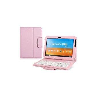 Faux Leather Flip Case with Built in Bluetooth Keyboard for Samsung Galaxy Tab P7510 10.1 Tablet PC (Pink)