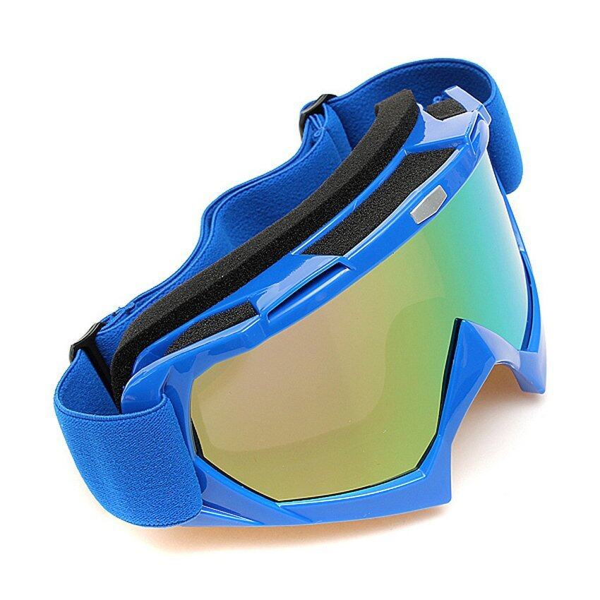 FSH Motocross Off-road Trials Enduro Helmet ATV Dirt Bike Motorcycle Goggles Eyewear Blue