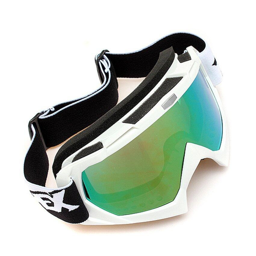 FSH Motocross Off-road Trials Enduro Helmet ATV Dirt Bike Motorcycle Goggles Eyewear Silver