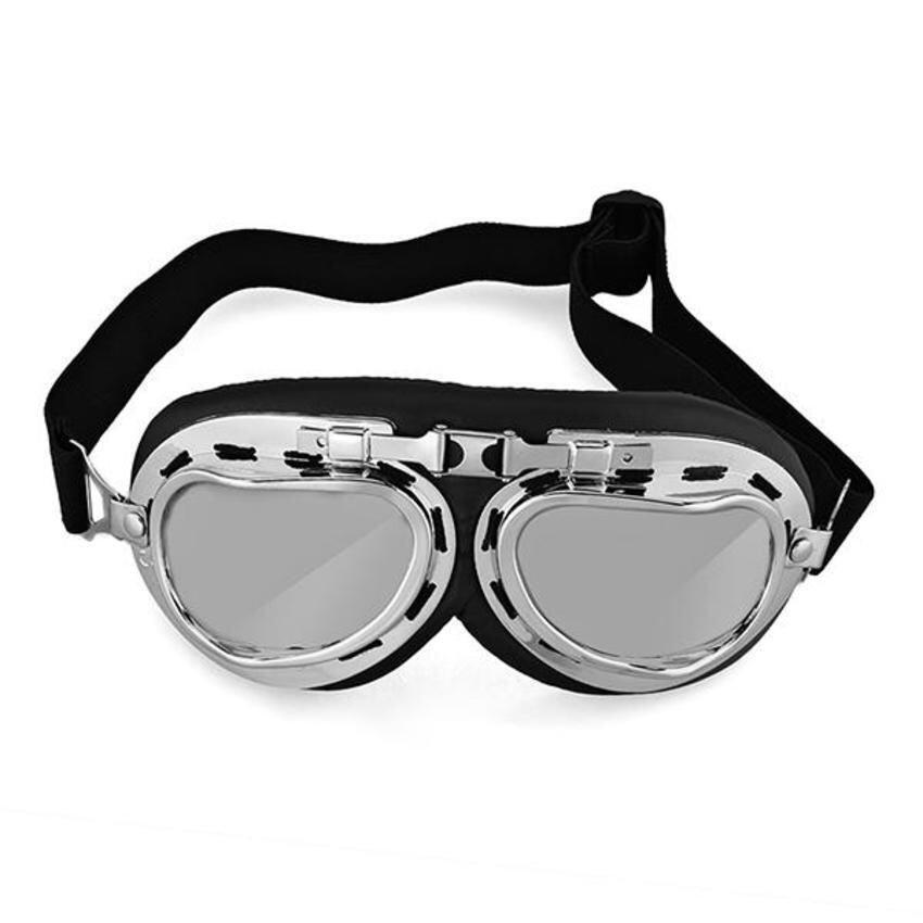FSH Vintage Style Aviator Motorcycle Bike Goggles Helmet Glasses Protection