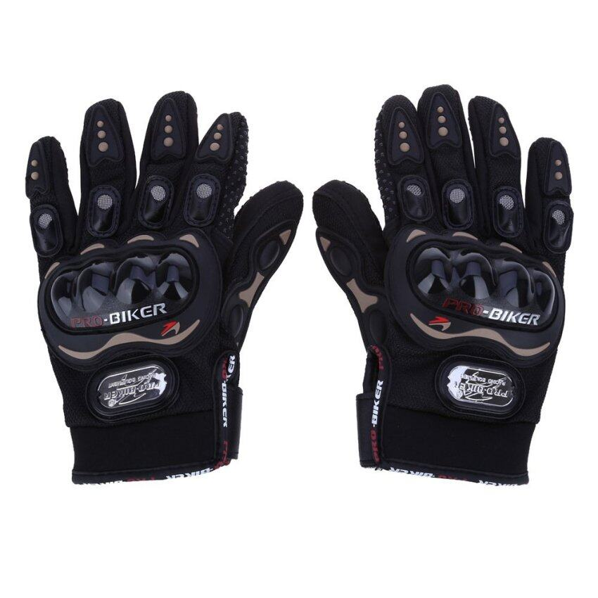 Full Finger Outdoor Sports Riding Breathable Protective Gears XL (Black)