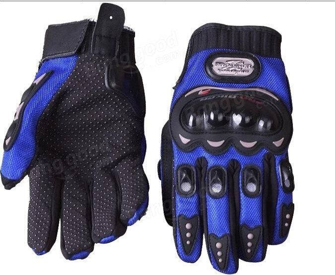 Full Finger Safety Bike Motorcycle Racing Gloves for Pro-biker MCS-01B Blue M - intl