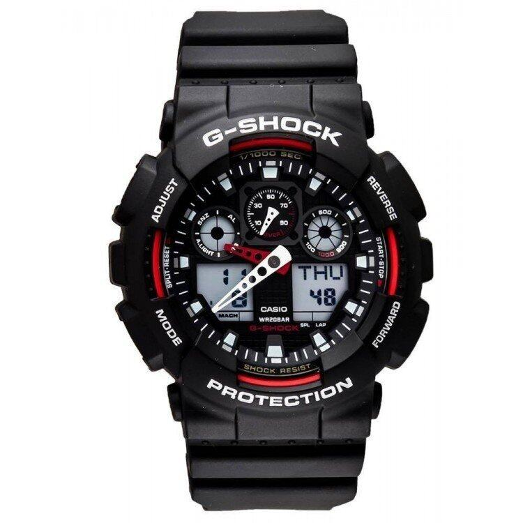 G-SHOCK GA-100-1A4DR SPORTS WATCH Red/Black