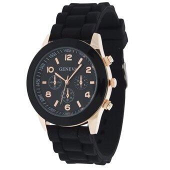 Genava Colorful นาฬิกาข้อมือผู้หญิง สีดำ สายซิลิโคน รุ่น GNV-563 image