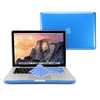 GMYLE เคส MacBook Pro 13 นิ้ว พร้อม CD-Drive Keyboard Cover (สีน้ำเงิน) (Not Fit for MacBook Pro Retina 13)