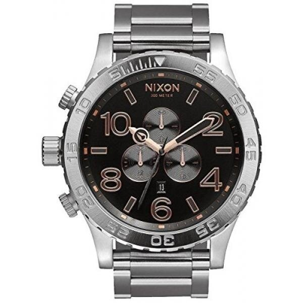 Grey/Rose Gold The 51-30 Chrono Watch by Nixon - intl image