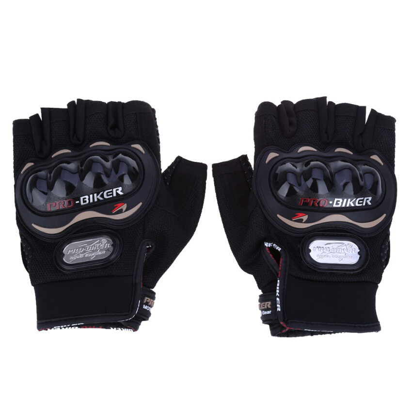 Half-finger Motorbike Outdoor Sports Riding Protective Gears L (Black)