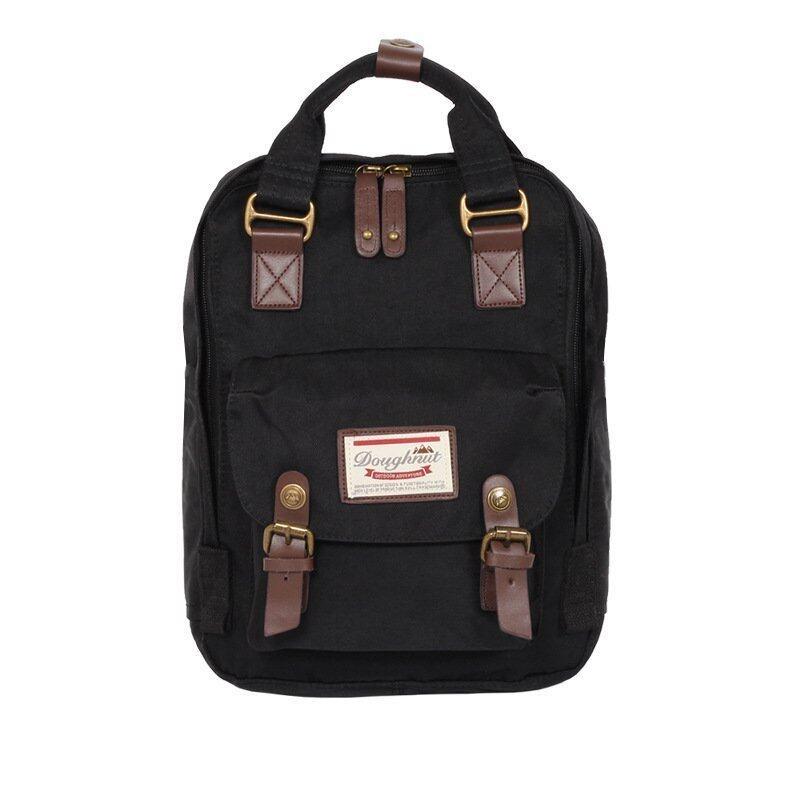 Happy Buy British Style Backpack Women Backpacks Doughnut Patchwork Fashion Girls School Bags for Girls Canvas Women Backpack Mini - intl