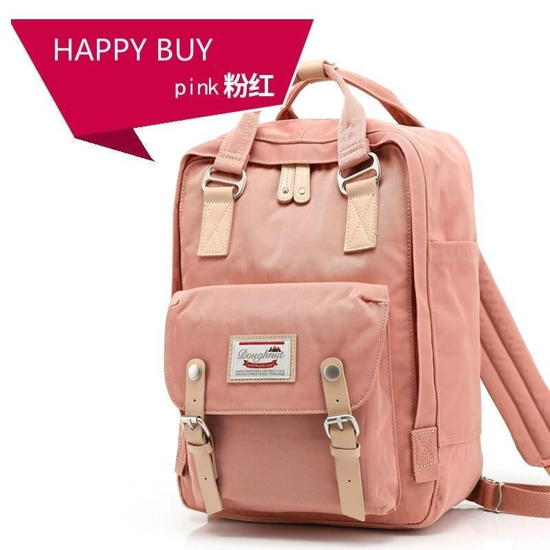 Happy Buy British Style Backpack Women Backpacks Doughnut Patchwork Fashion Girls School Bags for Girls Canvas Women Backpack Mini - intl