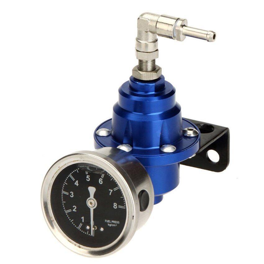 High Performance Adjustable Fuel Pressure Regulator with Filled Oil Gauge for Car Auto ...