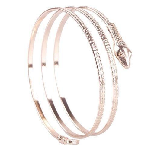 High Quality Store New Charm Coiled Spiral Upper Arm Cuff Bangle Bracelet Punk (Gold) ...
