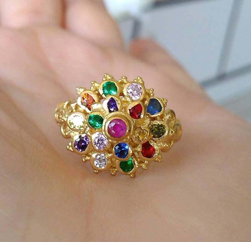 hindd แหวนพลอยนพเก้า