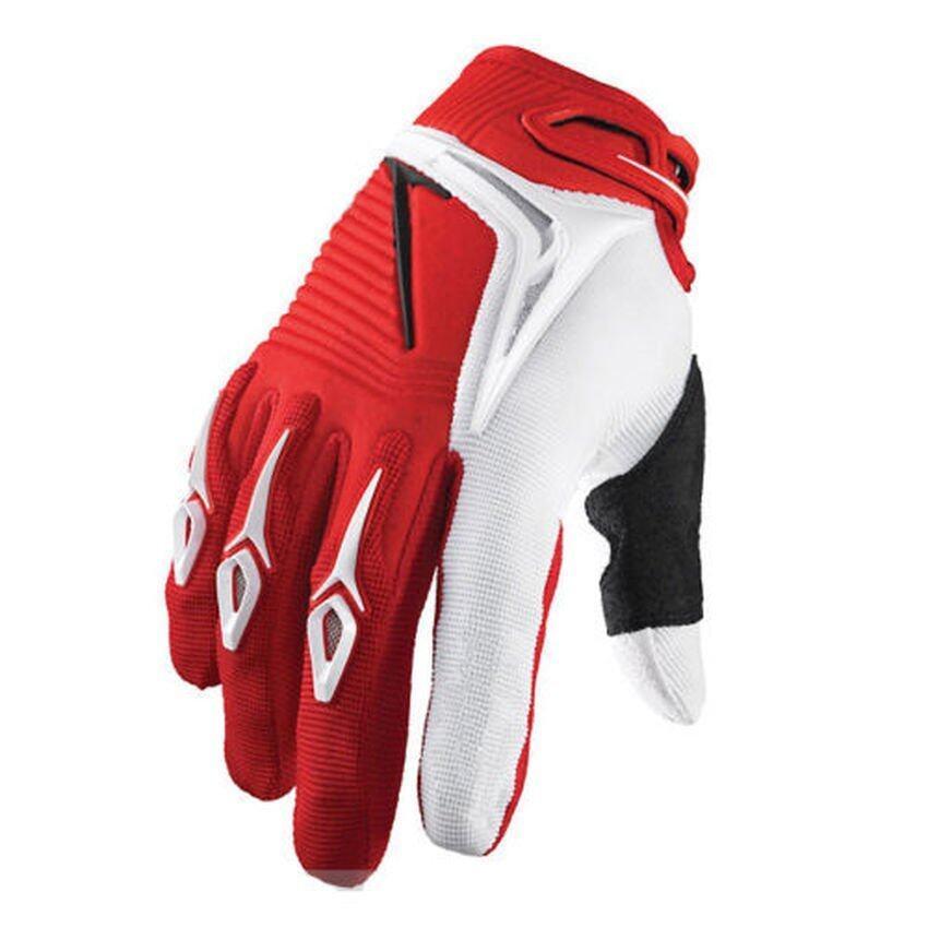 HKS Okdeals Racing Motorcycle Dirt Bike Full Finger Gloves Size L Red - intl