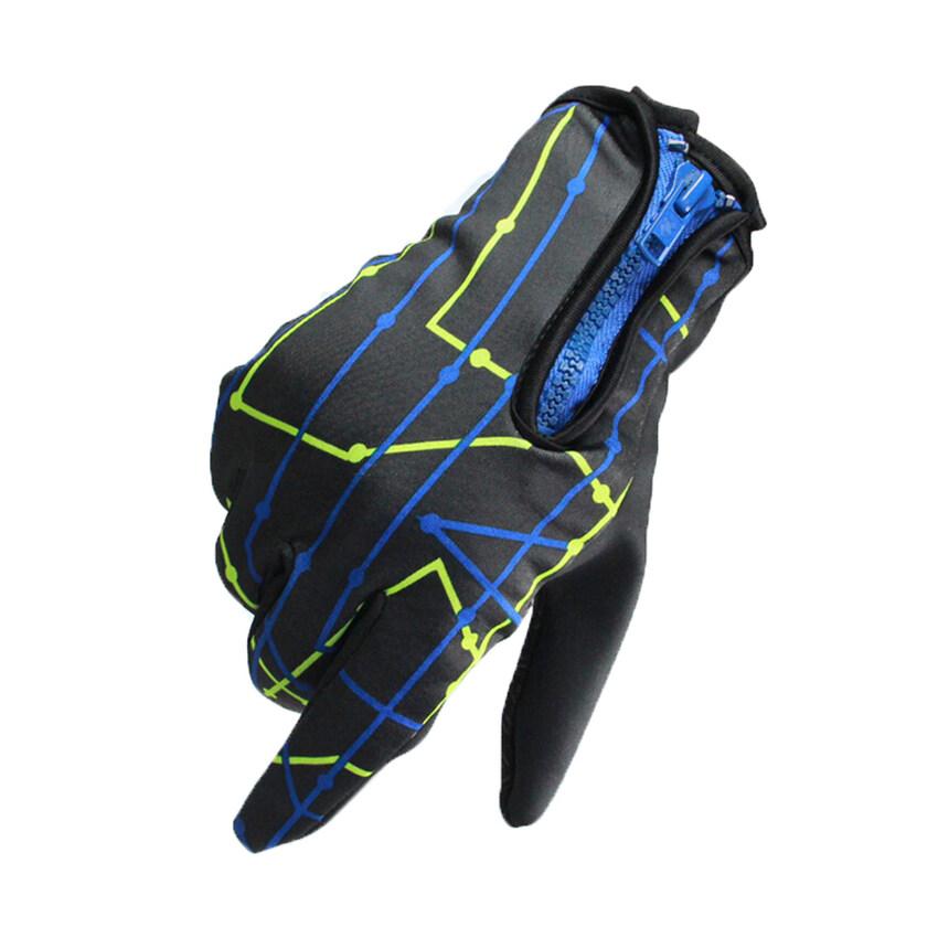 ขาย HKS Screen Touch Design Bike Gloves Full Finger Nonslip Gel Pads Breathable Motorcycle Glove Road Mountain MTB Bike Cycling Gloves Yellow-L - intl