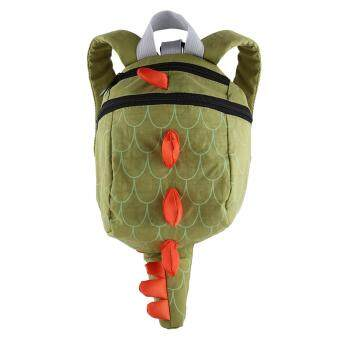 New Children Backpack Cute Dinosaur Animal Mini School Bag Kindergarten Green - intl