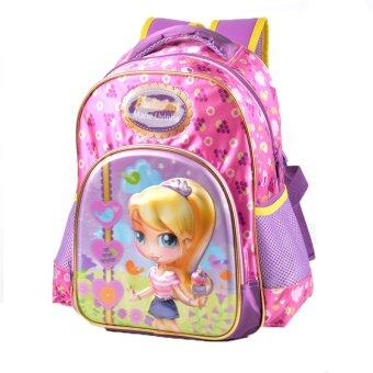 Primary Students Girls Pu School Bags Kids Backpack Girls(14 inch) - Intl