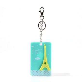 Eiffel Tower Square Bus Card Sleeve Green
