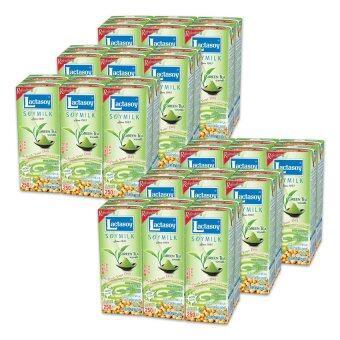 ขายยกลัง! LACTASOY แลคตาซอย นมถั่วเหลือง UHT ผสมชาเขียว 250 มล. แพ็ค 6 กล่อง (รวม 6 แพ็ค ทั้งหมด 36 กล่อง) (image 1)
