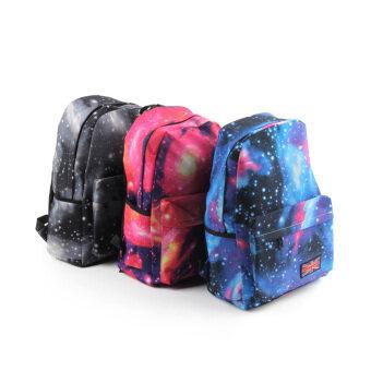 Good Galaxy Pattern Unisex Travel Backpack Canvas Leisure Bags School bag Rucksack Blue (Intl)