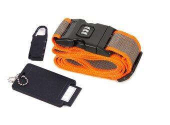 LUXX เซ็ทสายล็อกกระเป๋าเดินทาง - สีส้ม/น้ำตาล