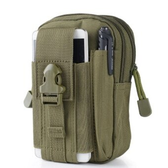 Men's Waist Bag Outdoor Sports Tactical Coin Purse Waist Fanny Packs Waterproof Pouch Bag(Color:Army Green) - intl