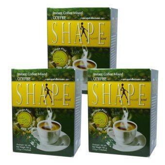 Coffee Shape คอฟฟี่เชฟ กาแฟผสมมะรุม พลัสมอลินก้า กาแฟลดน้ำหนัก เพื่อสุขภาพ หุ่นสวย สั่งได้ บรรจุ 12 ซอง (3 กล่อง)