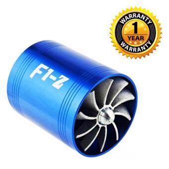 F1Z พัดลม 2 ใบพัด FAN ID 2 FAN F1Z สำหรับใส่ท่อกรองอากาศ เพิ่มแรงดันอากาศ ให้อากาศให้มีทิศทางที่เร็วและแรงขึ้น ติดตัั้งง่าย ตามวิดิโอใต้ภาพ (BLUE)