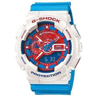 Casio g-shock นาฬิกาข้อมือ รุ่น GA-110AC-7ADR Limited Edition (สีขาว/ฟ้า)