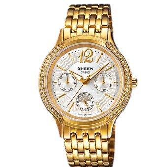 CASIO SHEEN นาฬิกาข้อมือผู้หญิง รุ่น SHE-3030GD-7AUDR - Gold