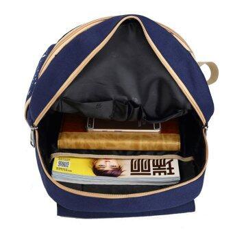 กระเป๋าเป้ผ้าใบกระเป๋านักเรียนหญิงสาวแบกเป้ท่องเที่ยว (image 1)