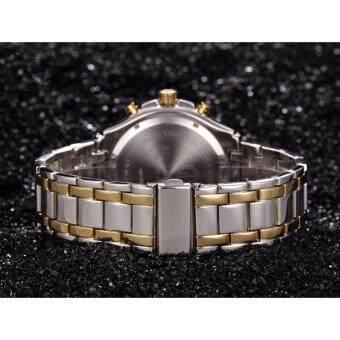 นาฬิกาข้อมือ GOLDENHOUR GH03-SG-W นาฬิกาผู้ชายสายสเตนเลสสตีล