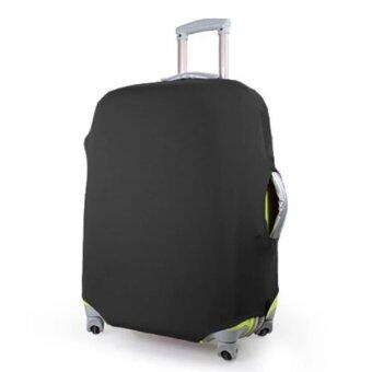 ถุงผ้าคลุมกระเป๋าเดินทาง แบบผ้ายืด (Lycra spandex travel suitcase spandex luggage cover) ไซร์ L ขนาดกระเป๋า 26-30 นิ้ว - สีดำ