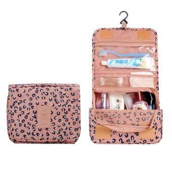 กระเป๋าใส่อุปกรณ์อาบน้ำ เครื่องสำอางค์ อเนกประสงค์ Pink leopard